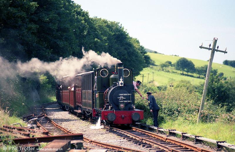 TR Fletcher Jennings 0-4-0WT no. 2 'Dolgoch' (FJ63/1866) is seen at Brynglas.