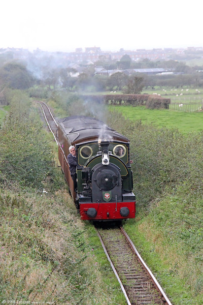 Kerr Stuart (4047/1921) 0-4-2ST no.4 'Edward Thomas' at Cynfal with the 1030 Tywyn to Nant Gwernol on 9th October 2019.