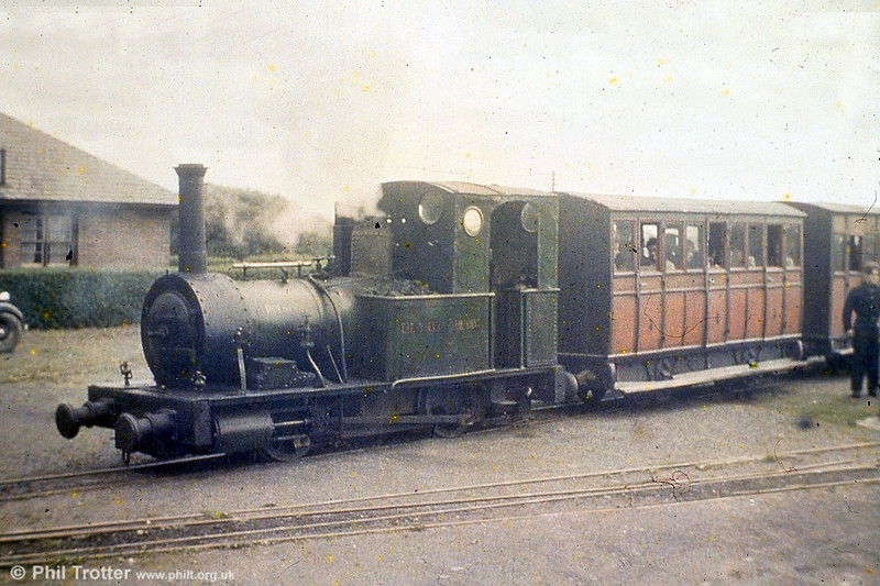 An early preservation-era view of Fletcher, Jennings (63/1866) 0-4-0WT no.2 'Dolgoch' at Tywyn. (P.Trotter Collection - Copyright held by  Colour-Rail).