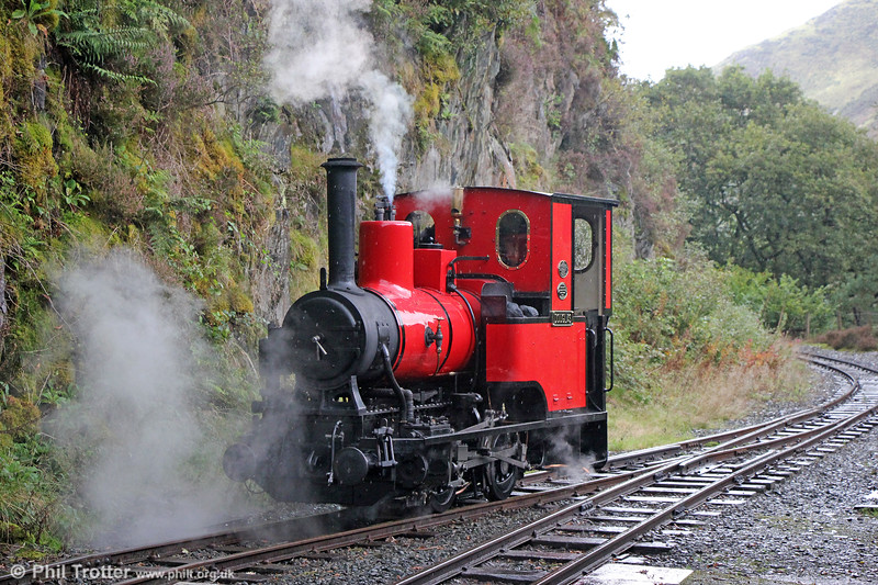 Talyllyn Railway Andrew Barclay (1431/1918) 0-4-0WT no.6 'Douglas' at Nant Gwernol on 9th September 2017.