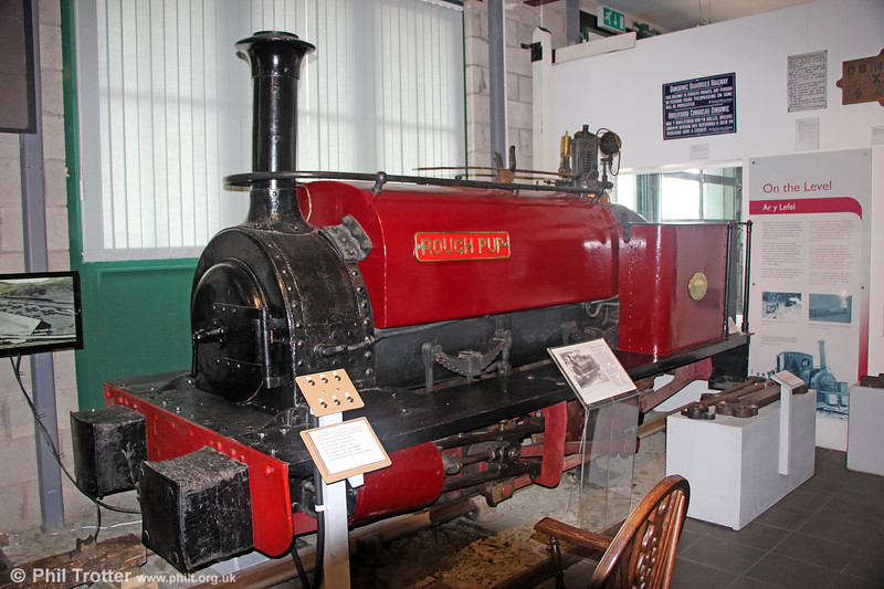Quarry Hunslet (541/1891) 0-4-0ST 'Rough Pup', built for the Dinorwic Quarry Railway, at the Narrow Gauge Railway Museum, Tywyn on 9th September 2017.