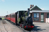 Talyllyn Railway 0-4-0WT no. 6 'Douglas' (AB1431/1916) awaits departure from Tywyn Wharf.