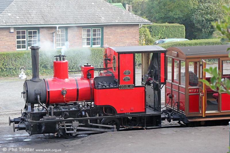 Talyllyn Railway Andrew Barclay (1431/1918) 0-4-0WT no.6 'Douglas' at Tywyn Wharf on  9th September 2017.