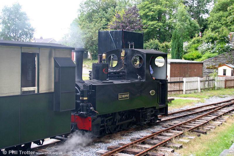 Teifi Valley Kerr Stuart (3117/1918) 0-6-2T 'Sgt. Murphy' departs from Henllan with the 1130 train for Llandyfriog on 17th July 2010.
