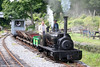 Quarry Hunslet 0-4-0ST (HE606/1894) 'Alan George' shunts a demonstration goods train at Henllan on 17th July 2010.