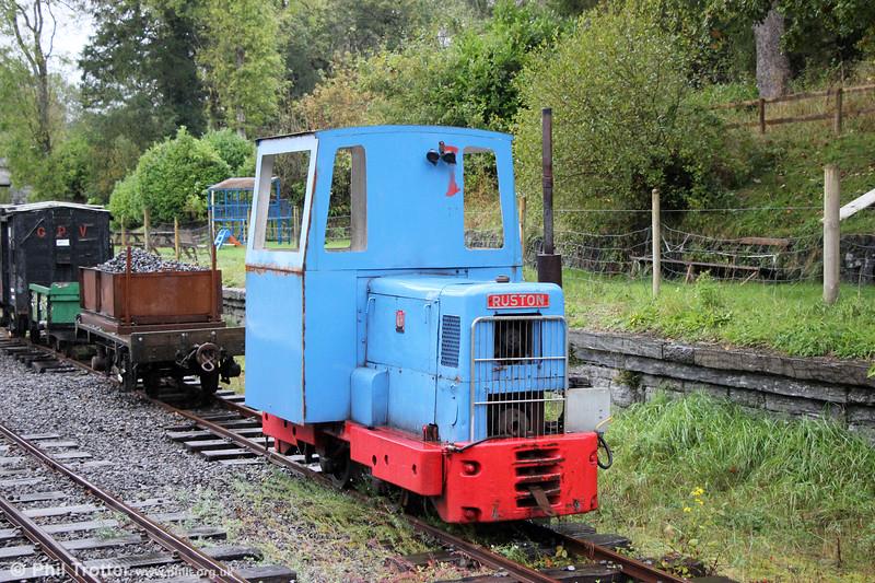 Ruston & Hornsby 4wDMF (433390/1959) 'John Henry' at Henllan on 13th October 2019.