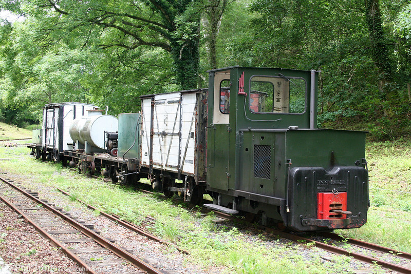 Teifi Valley Railway Motor Rail 4wDM (11111/1959) stabled at Henllan on 17th July 2010.