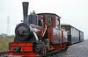 Brecon Mountain Railway Arn Jung 0-6-2WTT 'Graf Schwerin-Löwitz' prepares to leave Pant, near Merthyr, for Pontsticill.