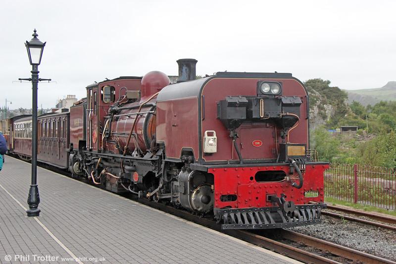 Welsh Highland Railway  NGG16 2-6-2+2-6-2T Garratt no. 138 (BP 7863/1958) at Porthmadog with the 1300 from Caernarfon on 7th September 2017.