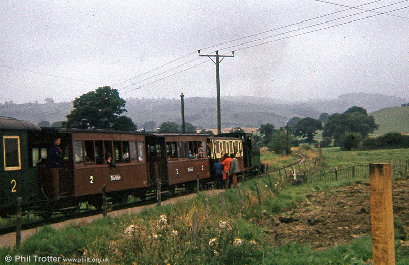 Welshpool and Llanfair Light Railway 0-6-0T 822 'The Earl' (BP3496/1903) at Sylfaen in 1973.