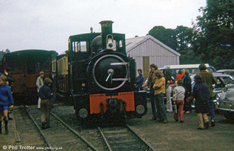 Welshpool and Llanfair Light Railway 0-6-0T 822 'The Earl' (BP3496/1903) at Llanfair Caereinion in 1973.