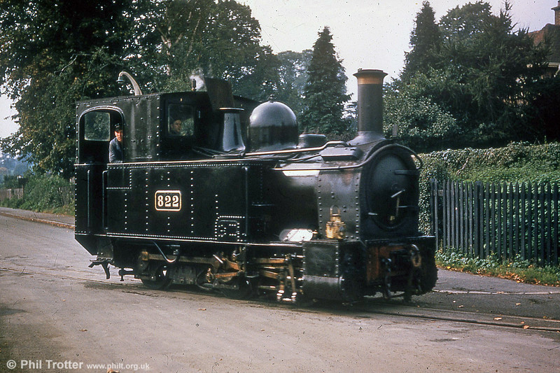 Welshpool and Llanfair Light Railway 0-6-0T 822 'The Earl' (BP3496/1903) on the streets of Welshpool. (P.Trotter Collection)