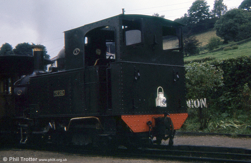 Welshpool and Llanfair Light Railway 0-6-0T 822 'The Earl' (BP3496/1903) at Llanfair Caereinion in 1973.