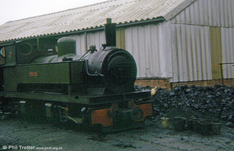 Welshpool and Llanfair Light Railway Bagnall (3024/1953) 0-4-4-0T 'Monarch' at Llanfair Caereinion in 1973.