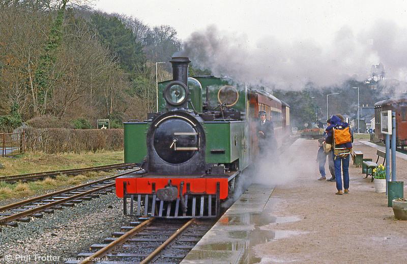 Welshpool & Llanfair Light Railway 2-6-2T no. 14, built by Hunslet (3815/1954) for the Sierra Leone Railway (no. 85).