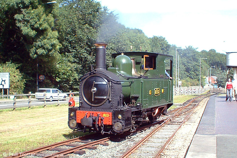 1903-built Beyer Peacock 0-6-0T no. 823 'Countess' at Raven Square on 21st August 2005. Two of these neat locomotives were built to work the line when it opened in 1903 and both have been preserved.