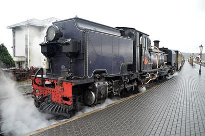 2-6-2+2-6-2T No87 at Porthmadog on The Ffestiniog Railway  22/08/15.