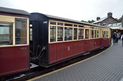 Coach 106 at Porthmadog on The Ffestiniog Railway  22/08/15.