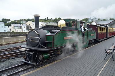 0-4-4-0T 'Earl of Merioneth/Iarll Meirionnydd' at Porthmadog on The Ffestiniog Railway  22/08/15.