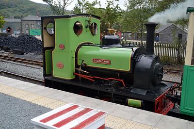 0-4-0ST 'Dolbadarn' at Gilfach Ddu Station on The Llanberis Lake Railway  22/08/15.
