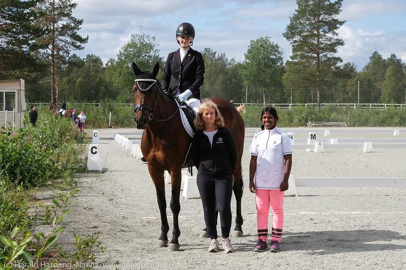 Dressurkonkurranse på Nordnorsk hestesenter i Moen i Målselv, 2-3. aug 2018