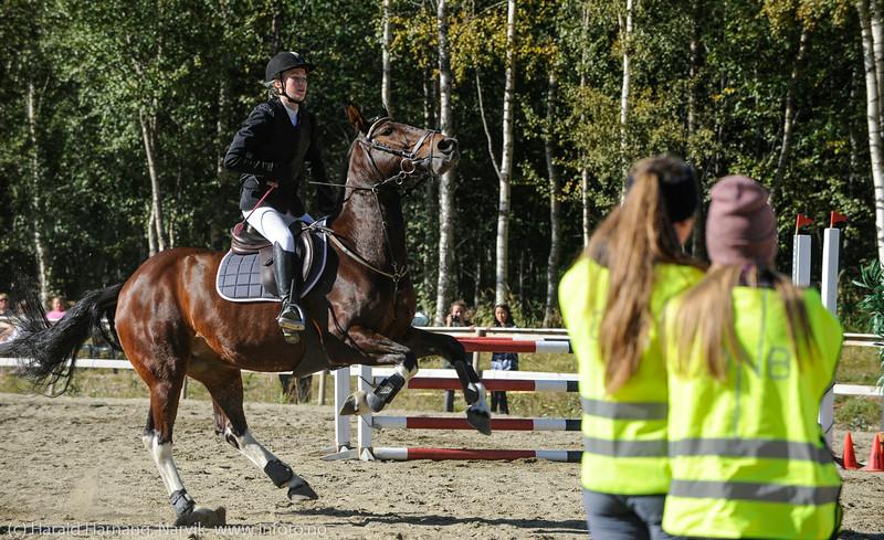 Distriktsstevne i sprangridning. Narvk Rideskole, Skjomdalen 30-31.aug 2014. Arr: Skjomen Idrettslags Ryttergruppe.