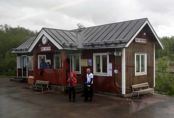 Abisko turiststation, Seden, Fri 24 July 2015 - 1414.  74km from Narvik and 1508km from Stockholm.