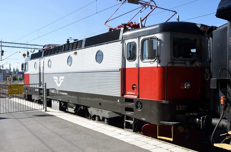 Swedish Railways (SJ) Rc6 No 1331, Stockholm Central, Sat 25 July 2015.  A last look at the loco which had brought the 1240 Narvik - Stockholm sleeper from Boden.