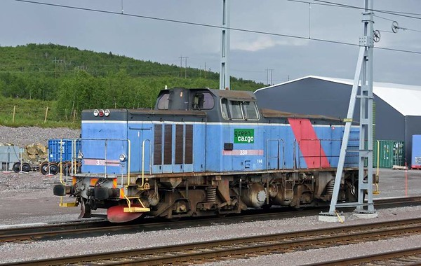 Green Cargo T34 No 330, Kiruna iron ore mine, Sweden, Fri 24 July 2015 - 1613.