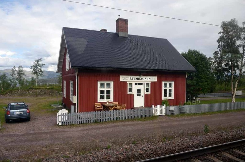 Stenbacken station, Sweden, Fri 24 July 2015 - 1500.  1474km from Stockholm and 108km from Narvik.