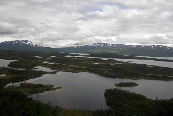 Swedish Lapland near Bjorkliden, Fri 24 July 2015 - 1401.  Looking north about 60km from Narvik.