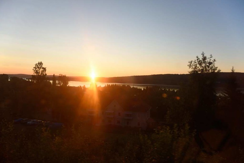 Sunrise, Sweden, Sat 25 July 2015 - 0410.  Dawn from the Narvik - Stockholm sleeper.