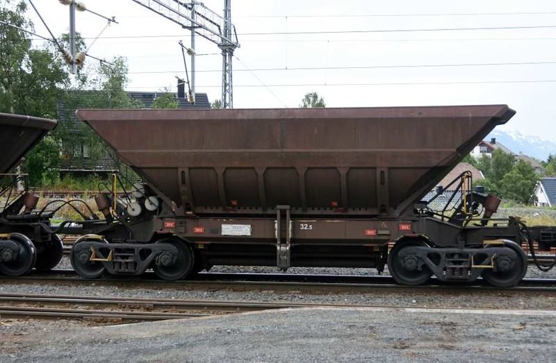LKAB iron ore wagon, Narvik station, 23 July 2015