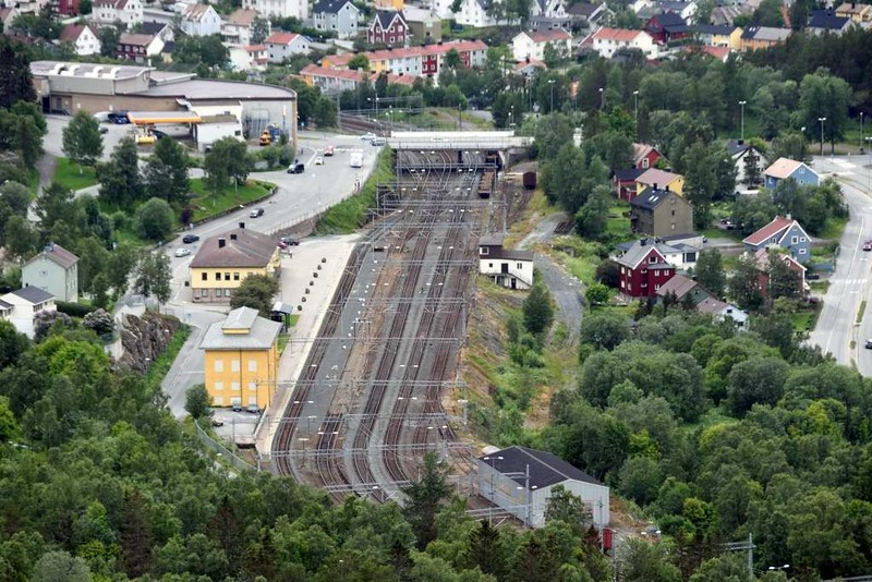Narvik train station, 23 July 2015.  Looking west.