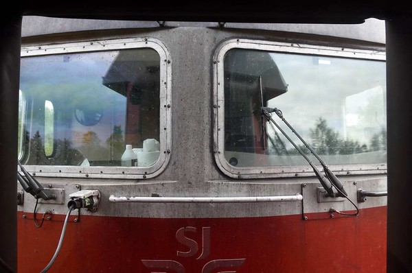 Swedish Railways (SJ) Rc6 No 1328, near Kiruna iron ore mine, Sweden, Fri 24 July 2015 - 1622.