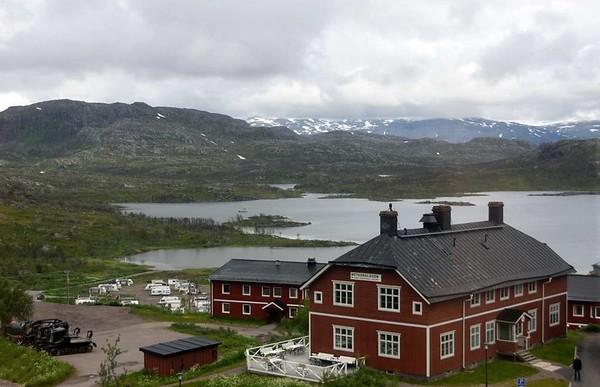 Riksgransen, Sweden, Fri 24 July 2015 - 1340.  This ski resort in Swedish Lapland is 40km from Narvik and near the 551m summit of the Narvik - Kiruna railway. It is 200km north of the Arctic Circle.
