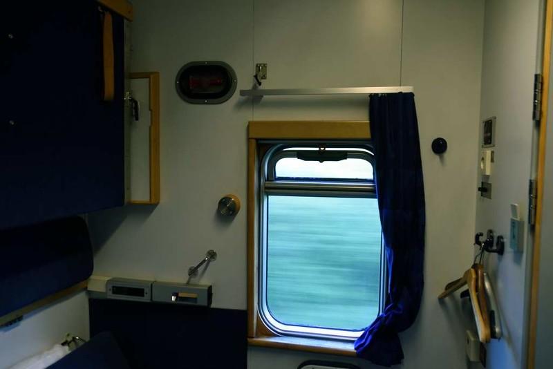 Swedish Railways (SJ) sleeping car compartment, 24 July 2015 1.