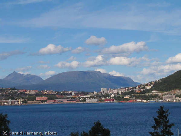 Narvik sentrum sett fra Ankenesstrand