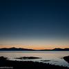 Solnedgang. Foto fra Framneslia mot vest, ut Ofotfjorden. 6. oktober ca kl 1820-1840.