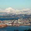 Narvik sentrum. LKABs anlegg til venstre.