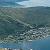 Ankenesstrand. Foto fra Skaret i Fagernesfjellet. Panorama, sammensatt bilde av flere. Høy oppløsning.