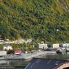 Deler av Narvik havn. Til venstre område som er utbygget/utfyllt i 2008. Til høyre bl.a. Havnens Hus.