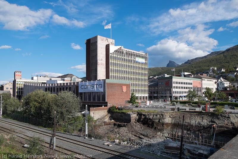 Narvik rådhus under restaurering.