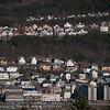 12.5.2011 Narvik sentrum, nederst E6/Kongens gate. Bak i fjellet boligfeltet Skistua.