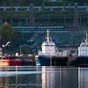 Ny slepebåt, her etter at den er døpt: Anna Rebecka! Men før maling. Sept 2012.