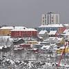 Framnes, vinter, LKAB bygger silo i forgrunen, februar 2008.
