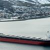 """Panamaregistrert """"Eibhlin"""", malmbåt som venter på tur for å laste LKAB-malm på Narvik havn 7. mars 2014."""