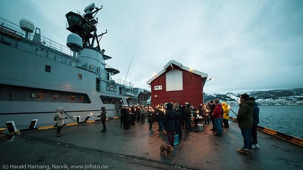 Minnemarkering Narvik havn 9. april 2015