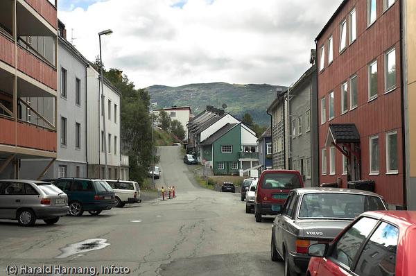 Dronningens gata, sør med Hagebakken i forlengelsen.