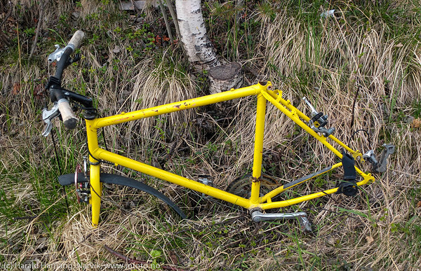 Hensatt sykkelramme.
